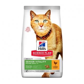 Hill's Science Plan Cat Mature Adult 7+ Senior Vitality Kylling & Ris