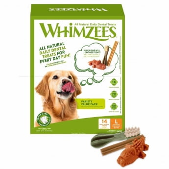 Whimzees Variety Value Box L Bulk 14 pcs