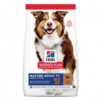 Hill's Science Plan Dog Mature Adult 7+ Medium Lamb & Rice