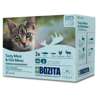 Bozita Feline Våtfor Multibox med Kjøtt & Fisk 12x85g