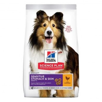 Hill's Science Plan Adult Sensitive Stomach & Skin Medium med Kylling