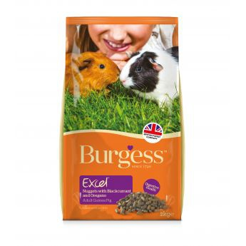 Burgess Excel Guinea Pig Adult with Blackcurrant & Oregano (2 kg)