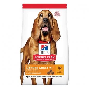 Hill's Science Plan Dog Mature Adult Light Medium Breed Kylling