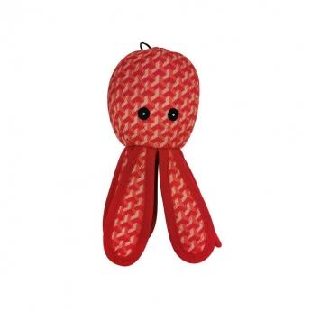 Bark-a-Boo Tough Toys Blekksprut Rød