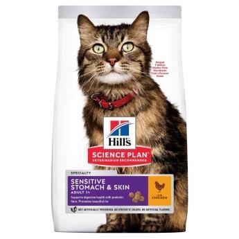 Hill's Science Plan Adult Sensitive Stomach & Skin med Kyckling för Katt