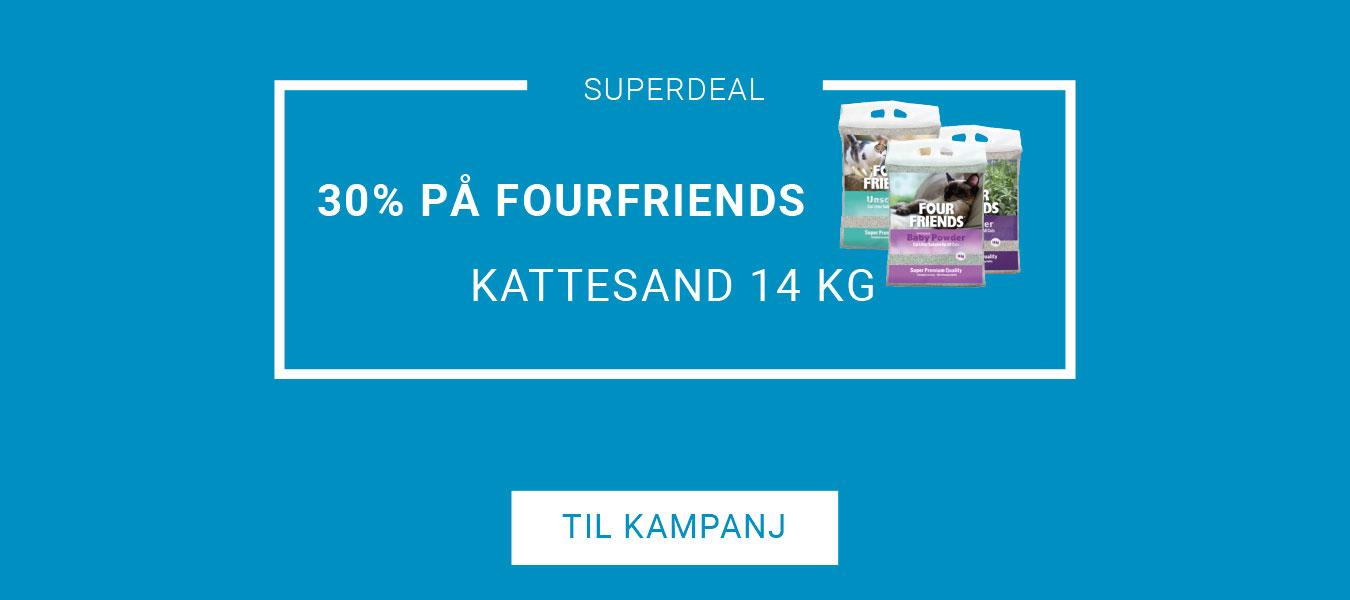 20% på FourFriends Kattesand 14 kg