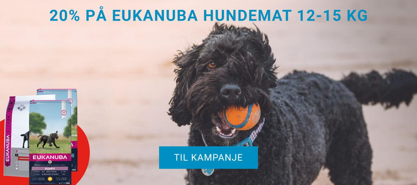 20% på Eukanuba Hundemat 12-15 kg