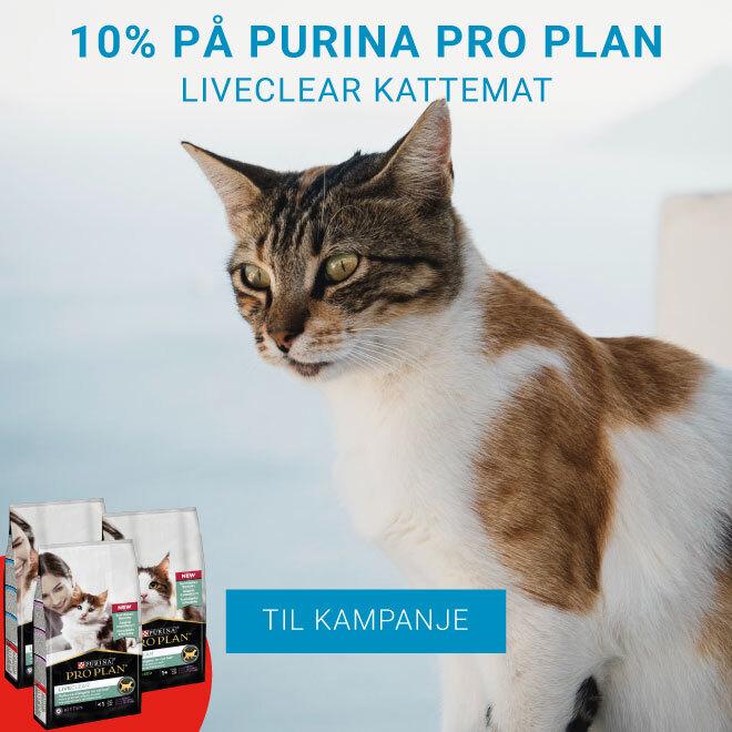 10% på Purina pro Plan LiveClear Kattemat