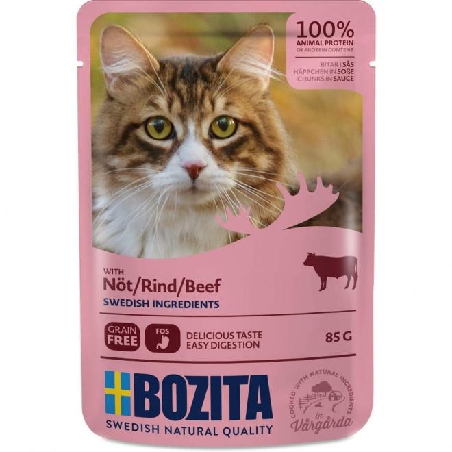 Bozita Feline Biter i saus med Biffkjøtt