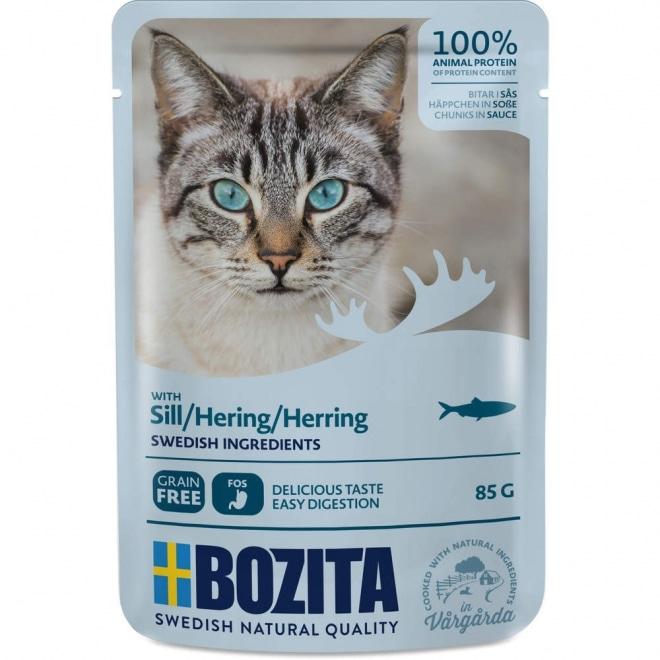 Bozita Feline Biter i saus med Sill
