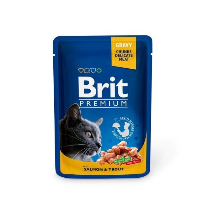 Brit Premium Porsjonsposer Med laks & Forell for Katter