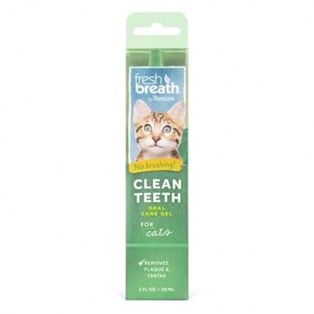 Tropiclean Fresh Breath Clean Teeth Oral Care Gel Cat