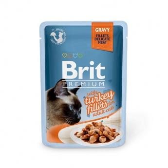 Brit Premium Pouches Fillets in Gravy with Turkey