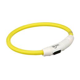 Flashring Lysande Hundhalsband (M - L  Gul)