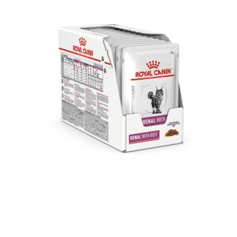 Royal Canin Veterinary Diets Cat Renal with Beef 12x85 g