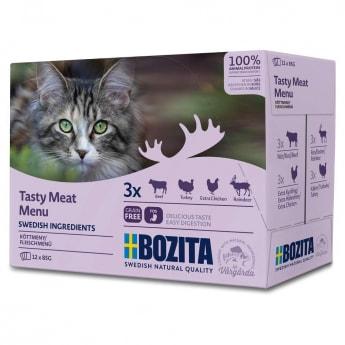 Bozita Feline Våtfoder Multibox med Kött (12x85g)