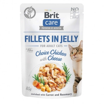 Brit Care Cat Adult Kyckling & Ost i Gelé 85 g