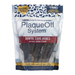 PlaqueOff Dental Care Bones Bacon (Bacon)