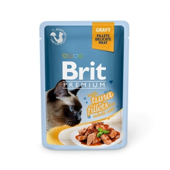 Brit Premium Pouches Fillets in Gravy with Tuna