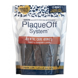 PlaqueOff Dental Care Bones Kalkon & Tranbär