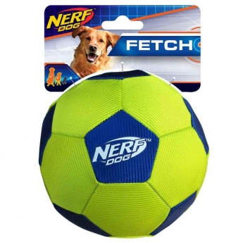 NERF Dog Airtuff Fotboll Lime & Blå