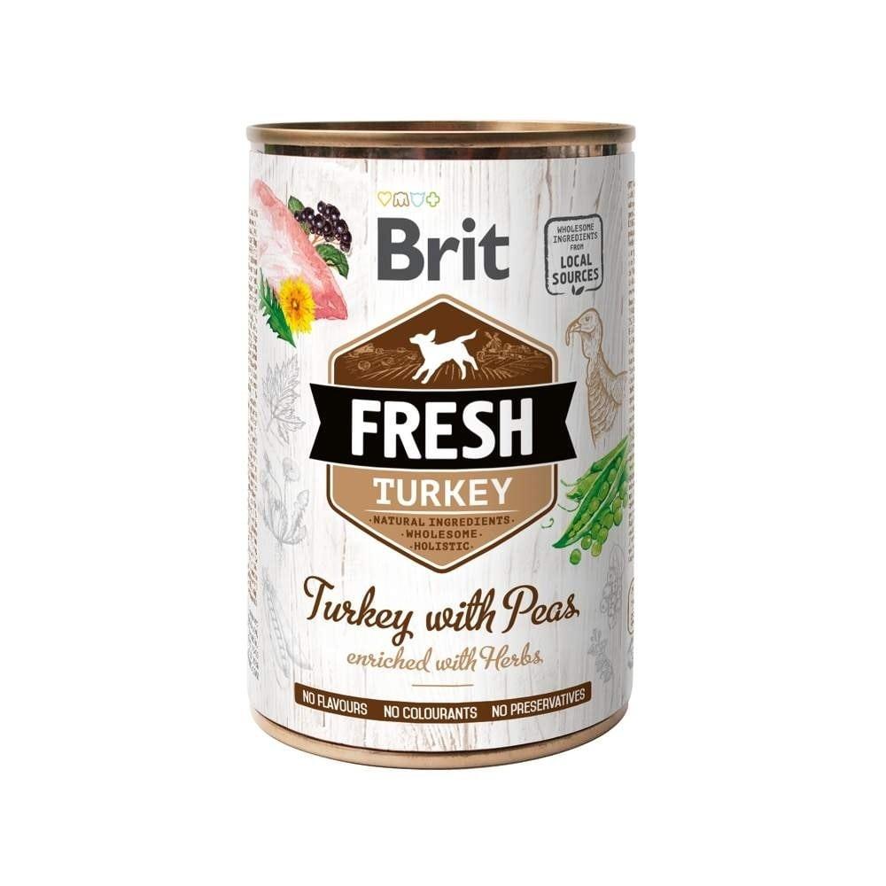 Brit Fresh Cans Turkey with Peas