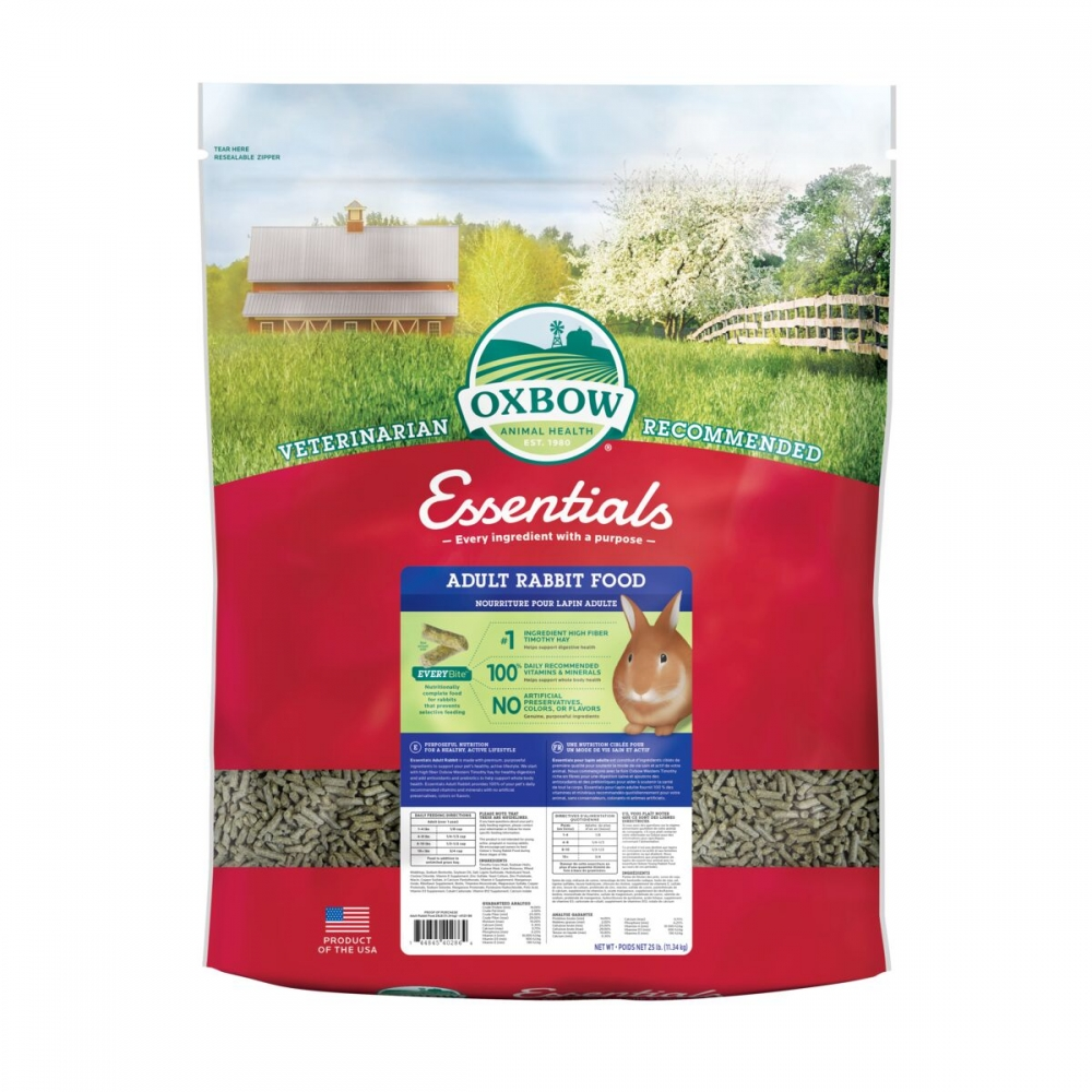 Oxbow Essentials Adult Rabbit Kaninfoder (11,33 kg)