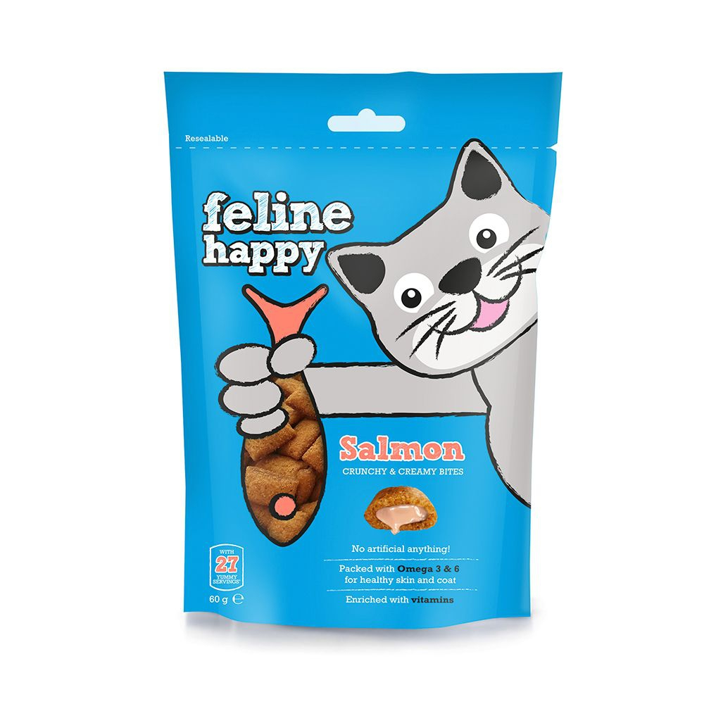 Feline Happy Lax kattgodis 60 g