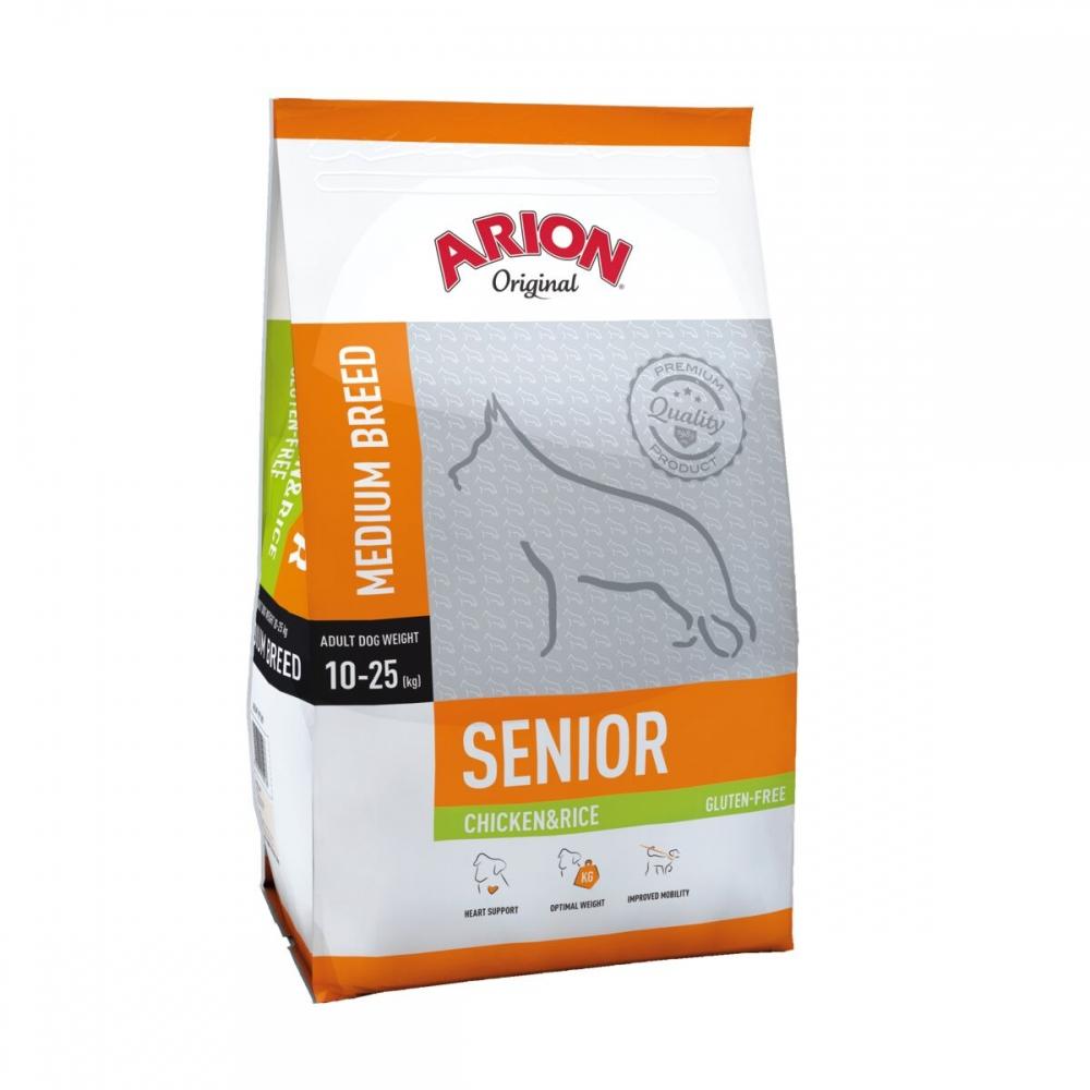Arion Dog Senior Medium Breed Chicken & Rice 12 kg
