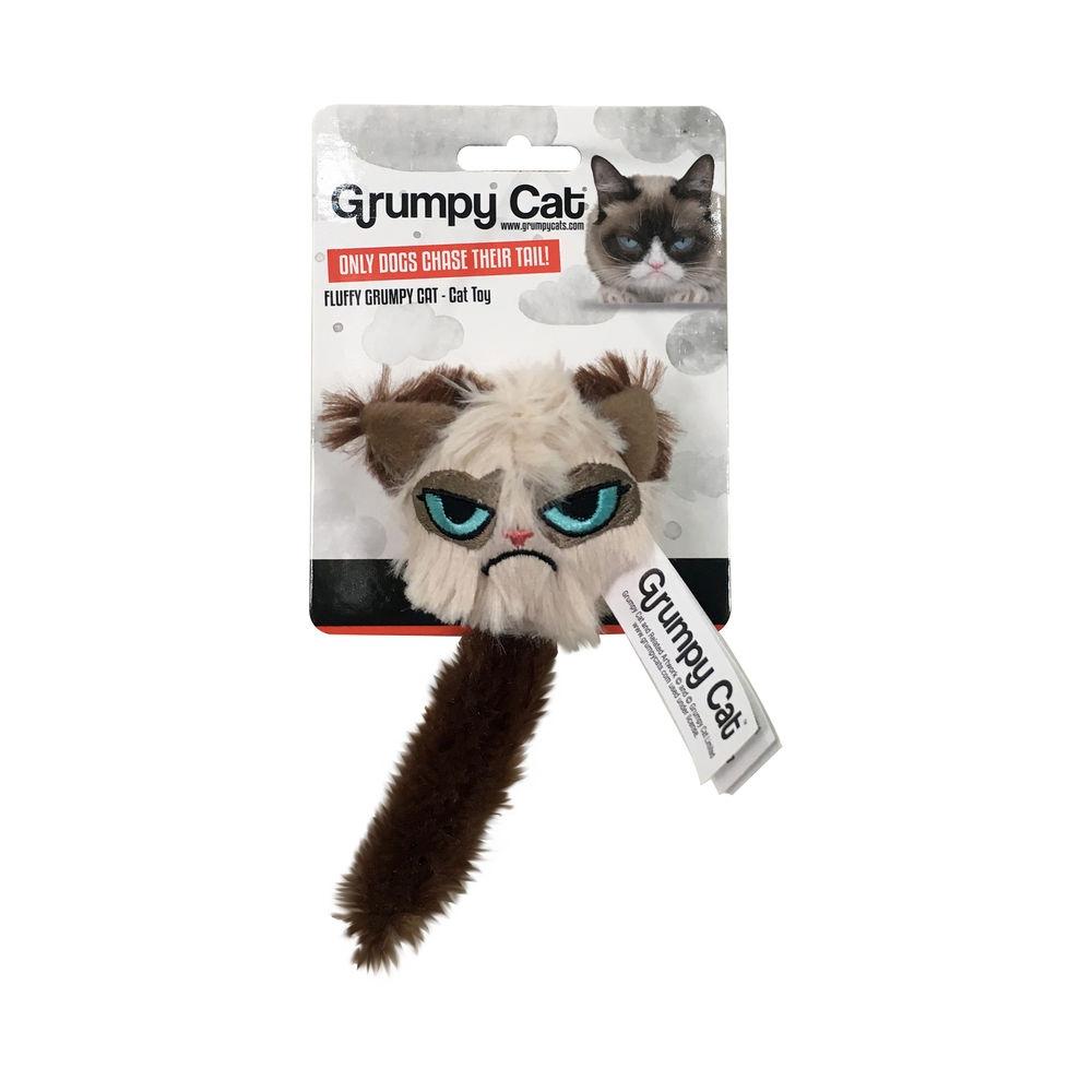 Grumpy Cat Fluffy Kattleksak med svans