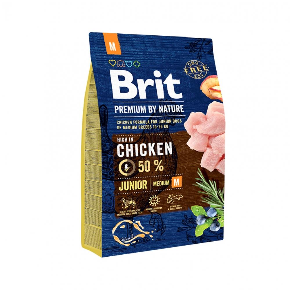 Brit Premium By Nature Dog Junior Medium Chicken (3 kg)