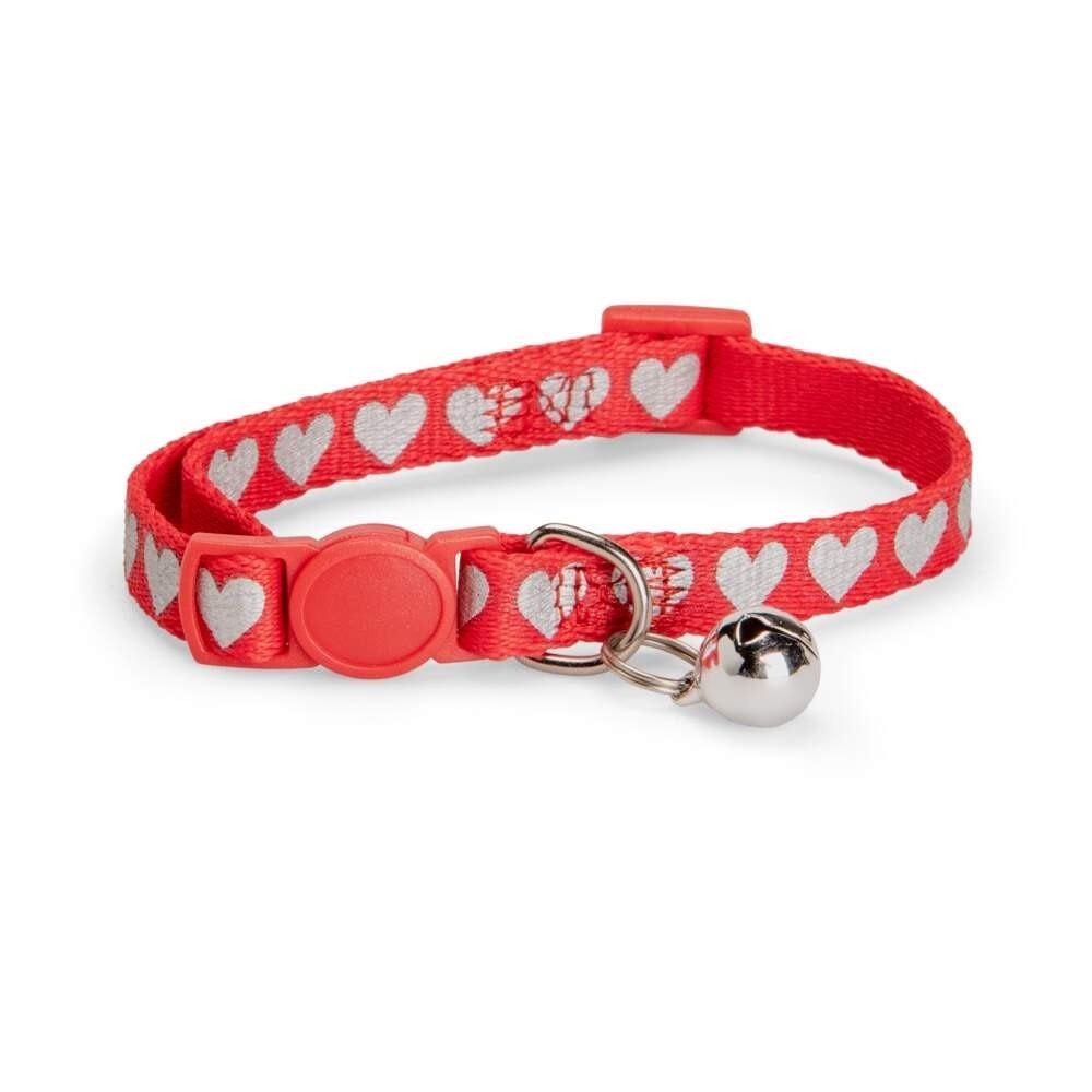 Basic Cat Reflective Lovely Halsband (Röd)