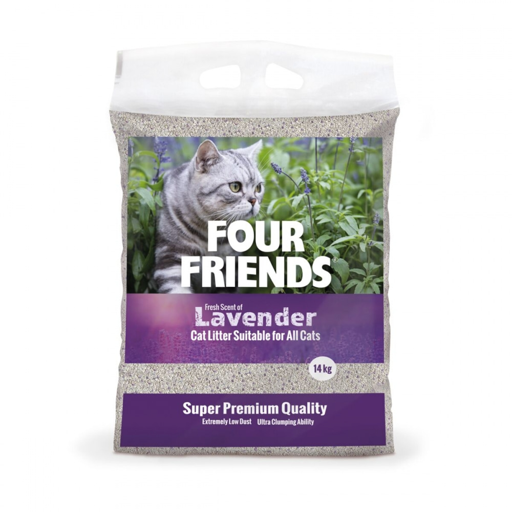 FourFriends Lavendel Kattsand 14 kg