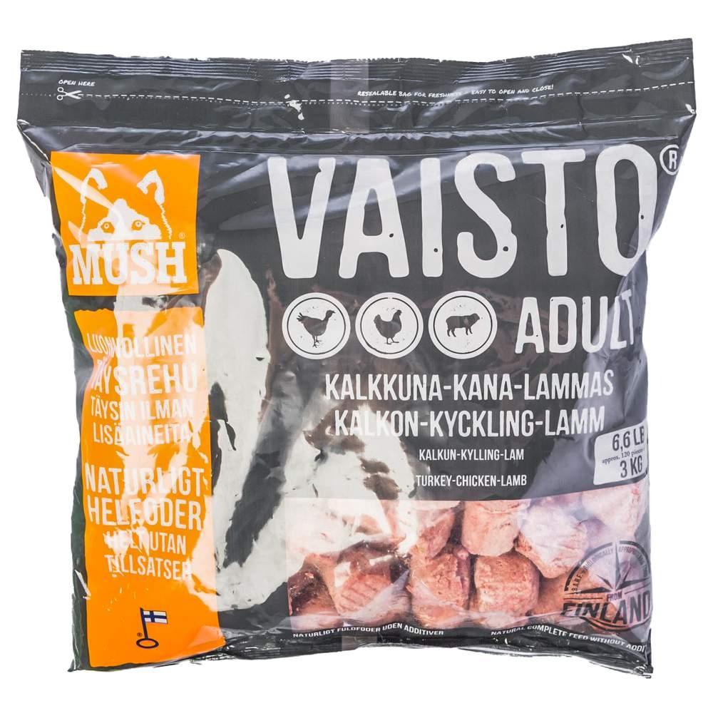 MUSH Vaisto® Grå Kalkon, Kyckling & Lamm 3 kg (3 kg)