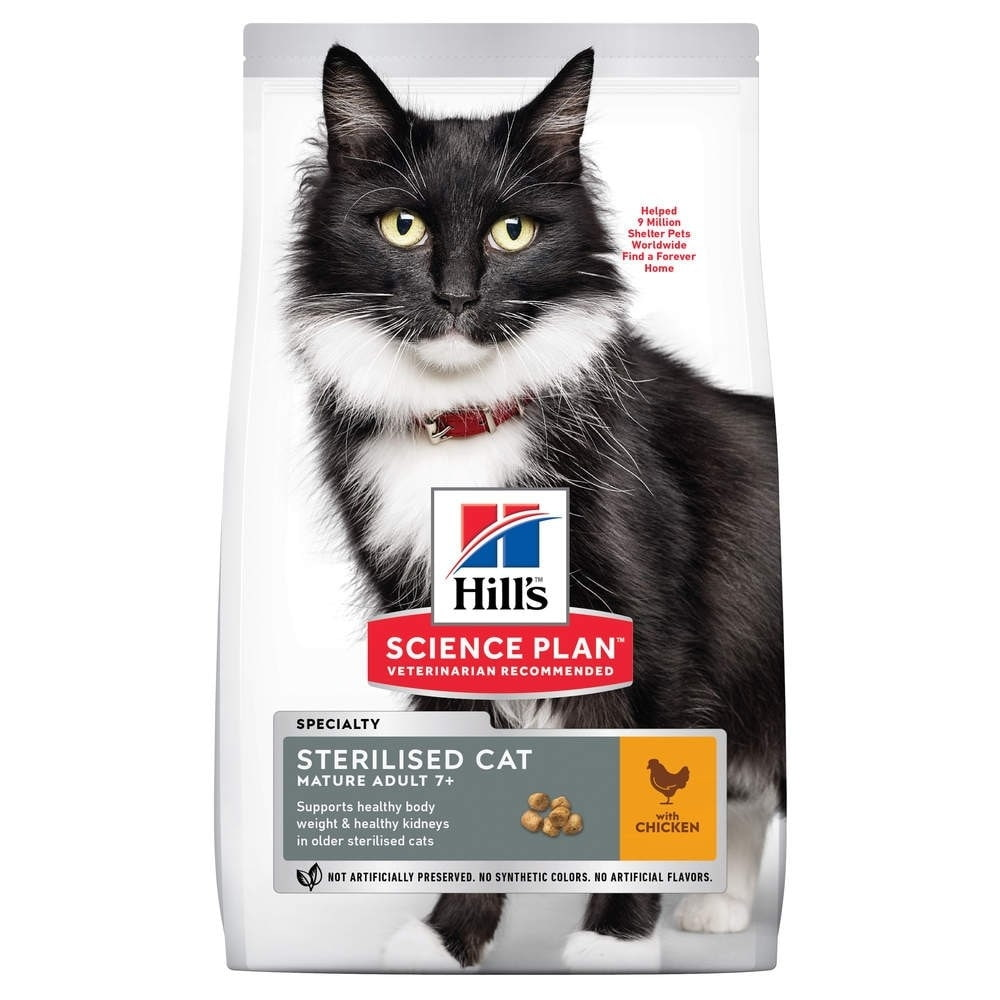 Science Plan Mature Sterilised Cat med Kyckling (1,5 kg)