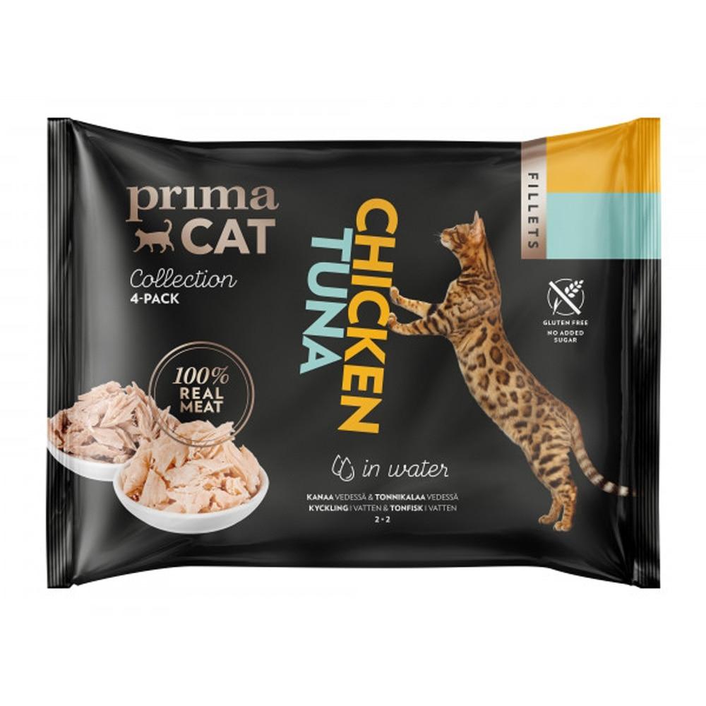 Prima Cat Tonfisk med Kyckling i Gelé (4x50 g)