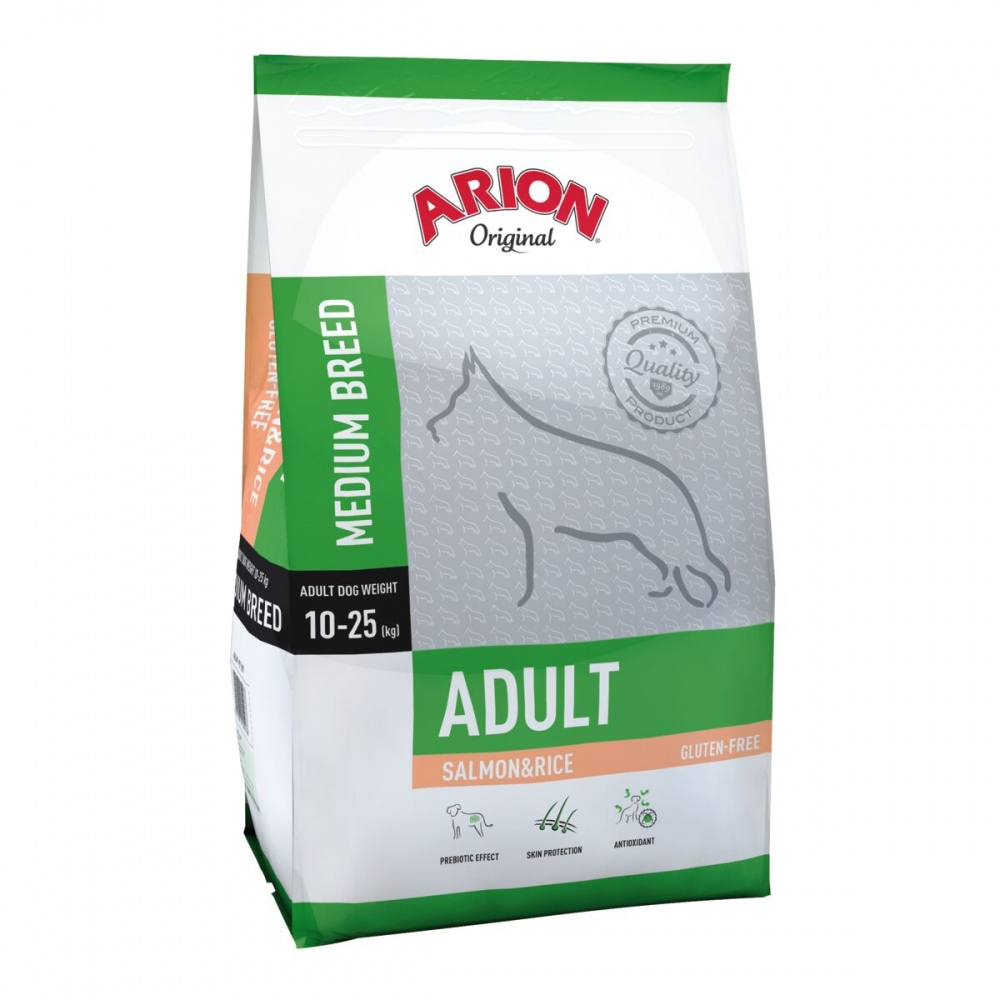 Arion Dog Adult Medium Breed Salmon & Rice (12 kg)
