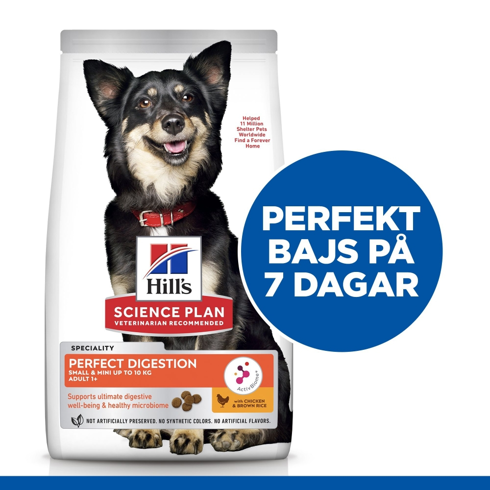 Hill's Science Plan Dog Adult 1+ Small & Mini Perfect Digestion Chicken & Brown Rice (6 kg)