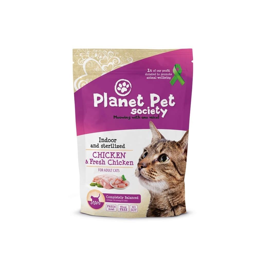 Planet Pet Society Cat Indoor & Sterilized Chicken with Fresh Chicken (1,5 kg)