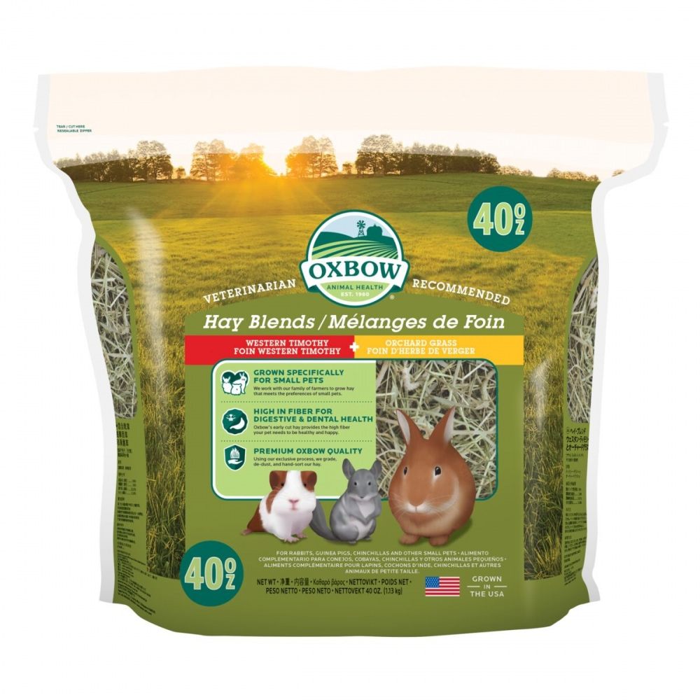 Oxbow Hay Blends Western Timothy & Orchard Hö (1,13 kg)