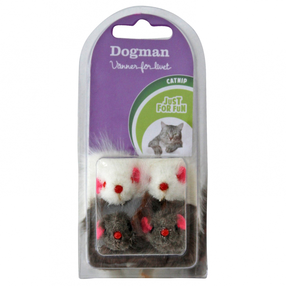 Dogman Leksaksmöss 4-pack