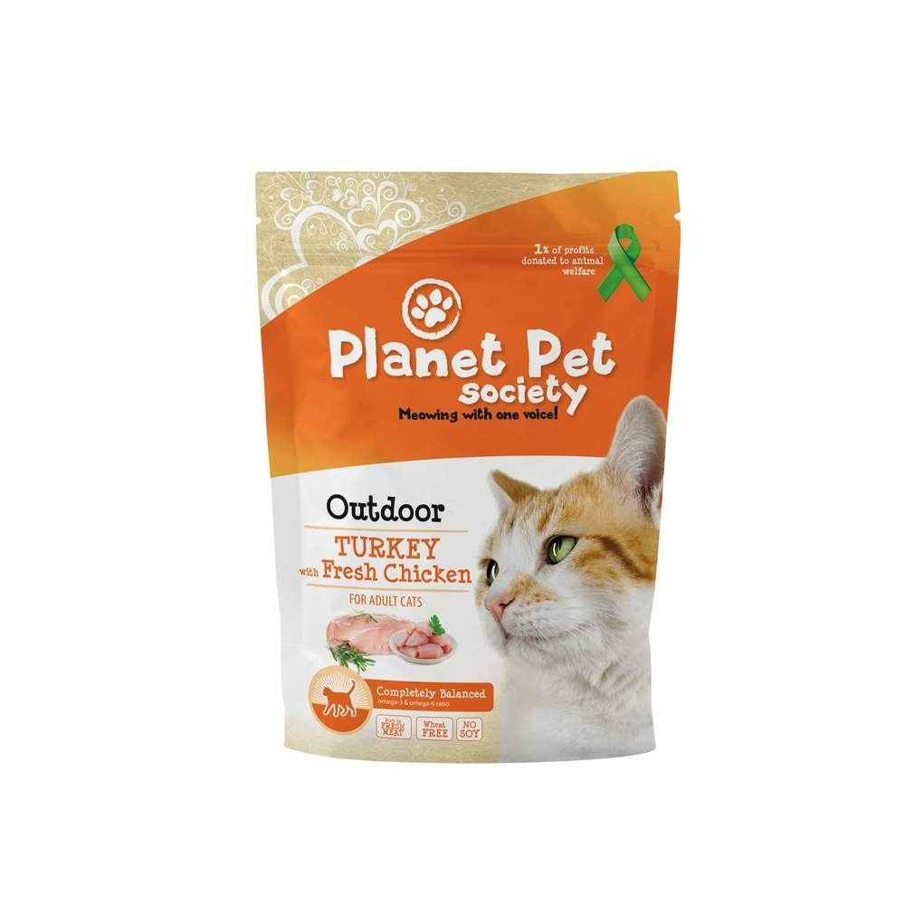 Planet Pet Society Cat Outdoor Turkey with Fresh Chicken (1,5 kg)