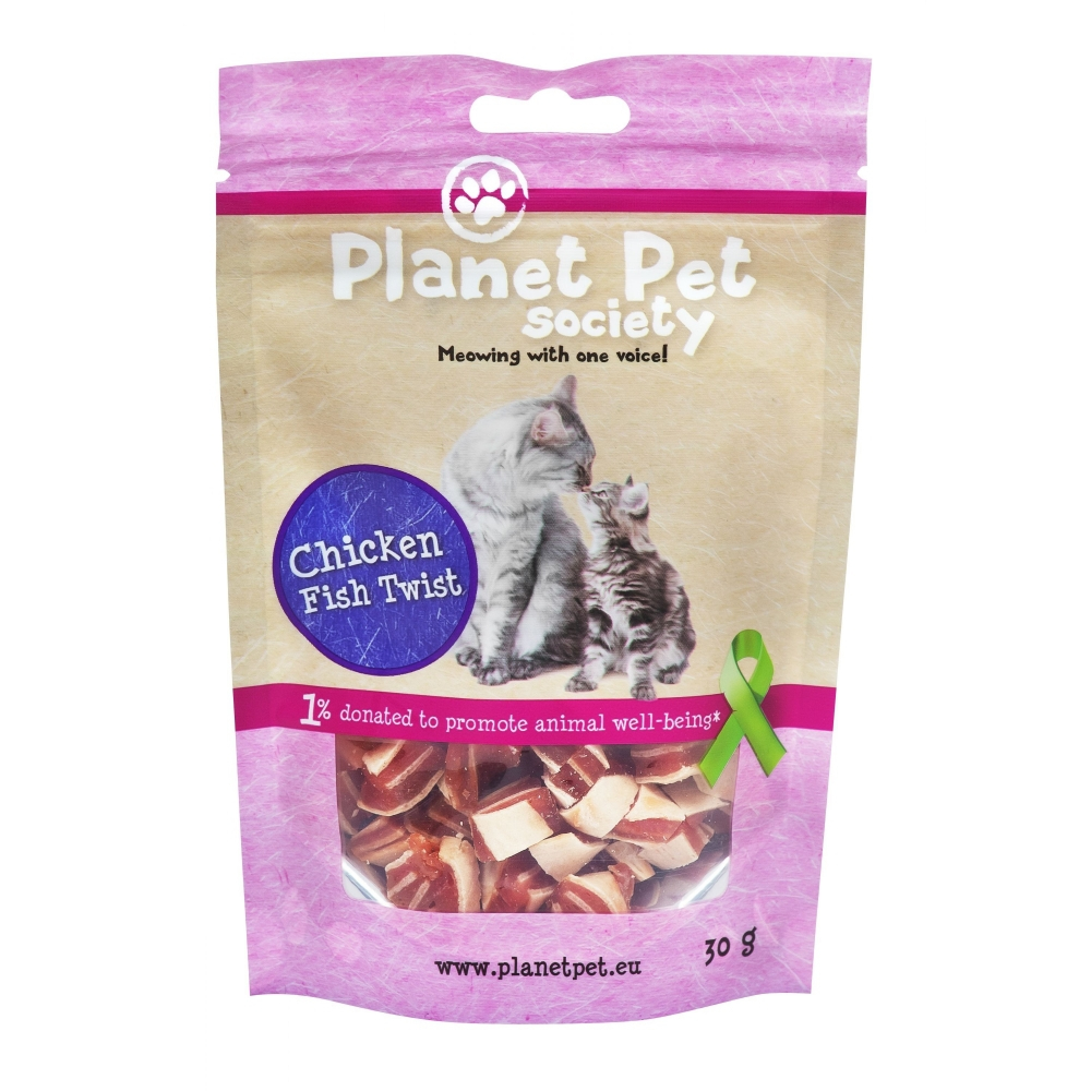 Planet Pet Cat Chicken Twist Snack
