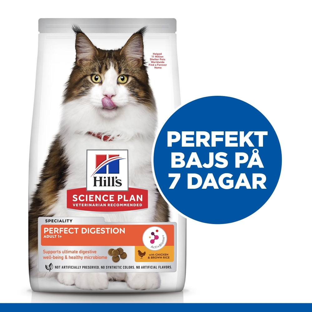 Hill's Science Plan Cat Adult 1+ Perfect Digestion Chicken & Brown Rice (7 kg)