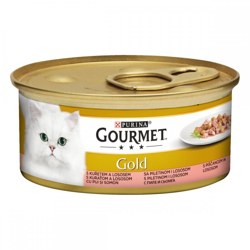 Gourmet Gold Bitar i Sås Lax & Kyckling 12x85 g