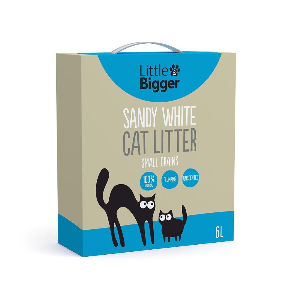 Little&Bigger Sandy White Kattsand (6 l)