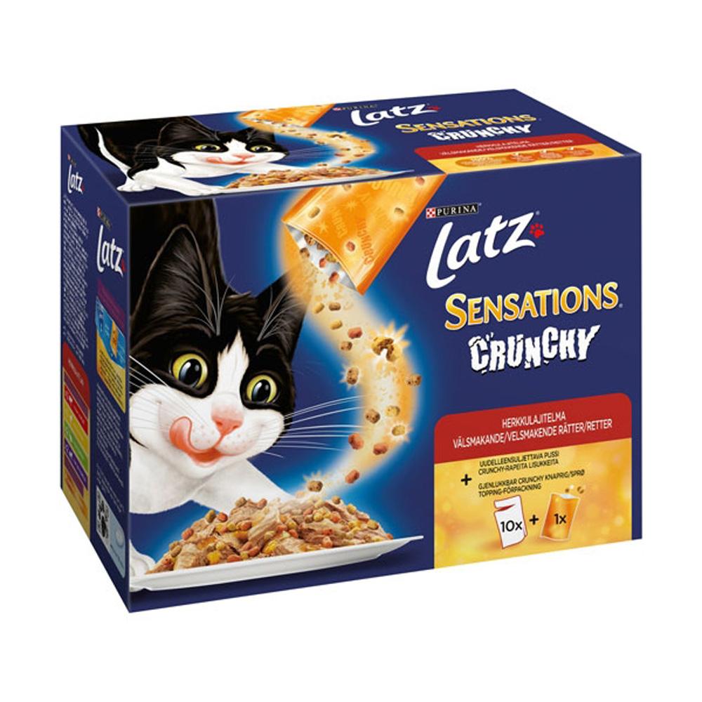 Latz Sensations Crunchy Fisk i Gelé 12x100 g