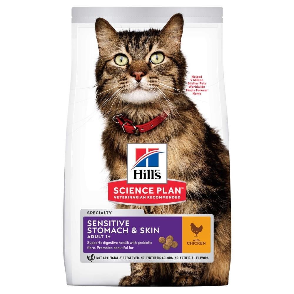 Hill's Science Plan Adult Sensitive Stomach & Skin med Kyckling för Katt (7 kg)