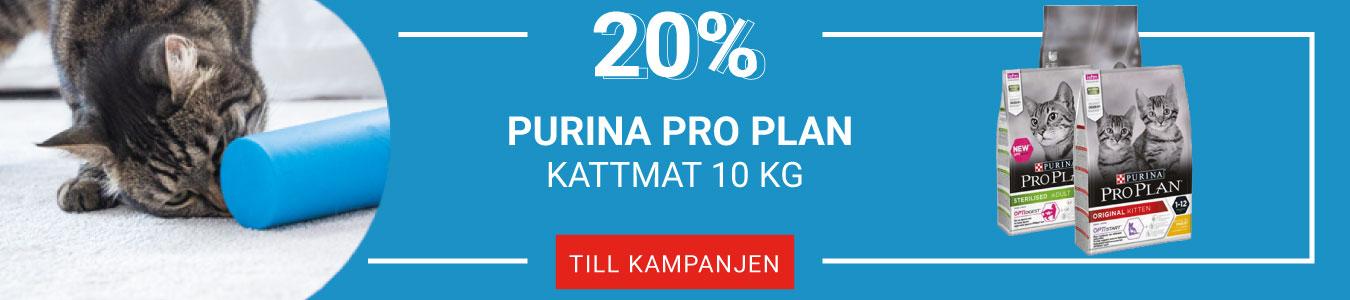 20% på Purina Pro Plan Kattmat 10 kg