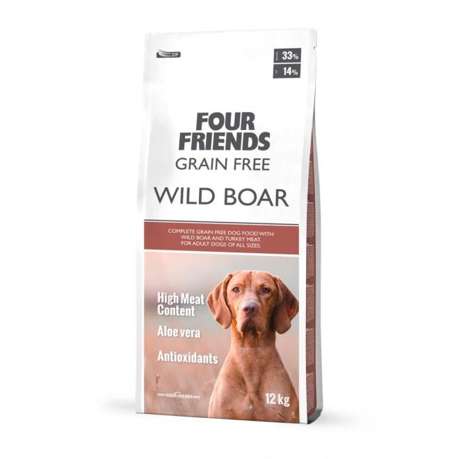 FourFriends Dog Grain Free Wild Boar (12 kg)